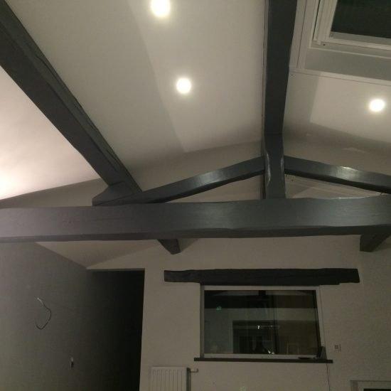 Installateurs plafond tendu sous toit poutre lyon