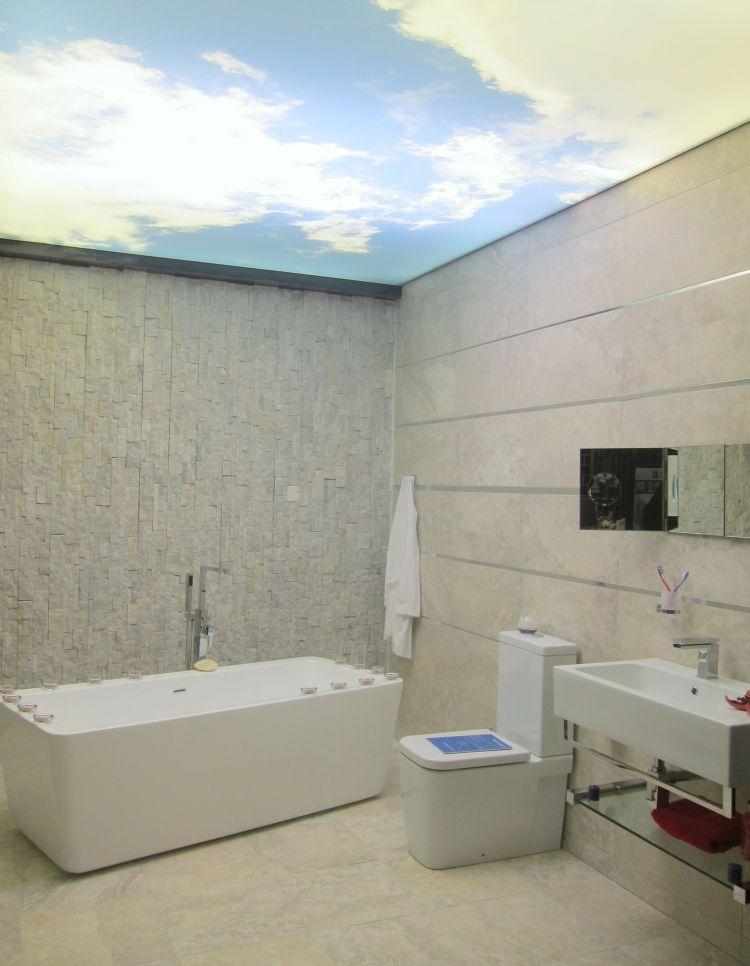 Quel plafond tendu pour une salle de bains ? - Atmosphère ...
