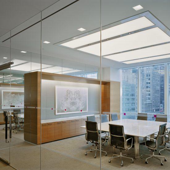 Plafond tendu éclairage bureau