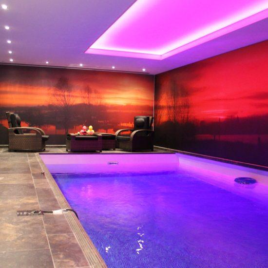 Plafond tendu Newmat piscine