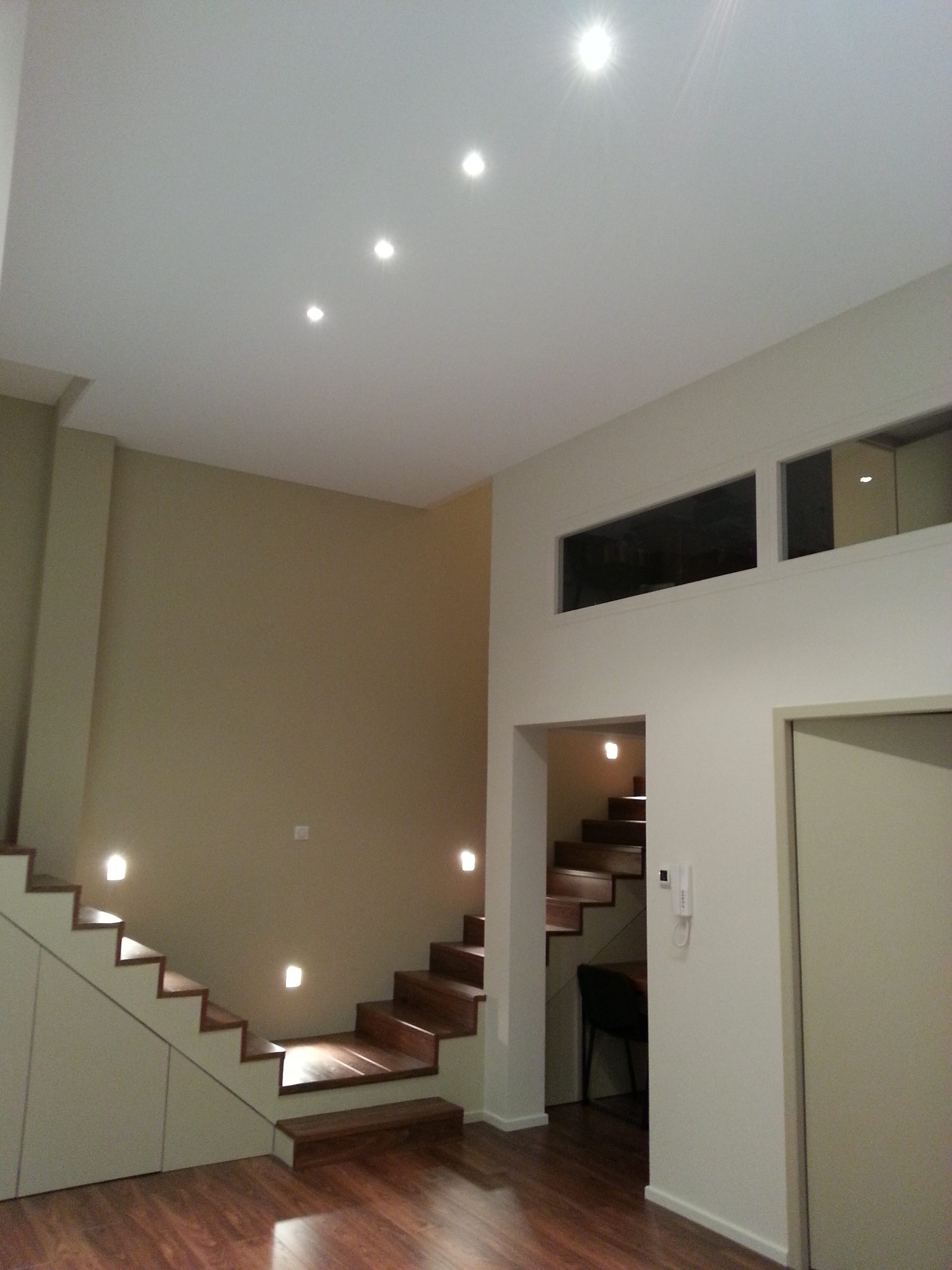 Eclairage plafond tendu